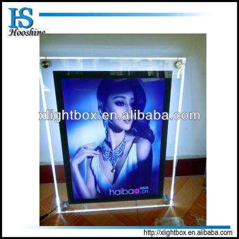 Transparency Light Boxcrystal Led Poster Frame With Single Side For