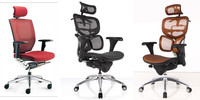 China wholesale ergonomic executive desk mesh fabric office chairs with armrest