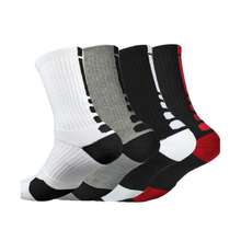 Sport marque Polyester épais Terry coussin chaud hommes durables en gros personnalisé basket-ball <span class=keywords><strong>chaussettes</strong></span> en stock