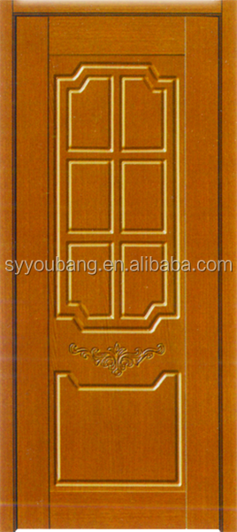 high quality veneer flush bathroom swing single leaf pvc wooden door