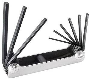 Klein Tools 70591 Nine-key Inch Folding Hex-key Set