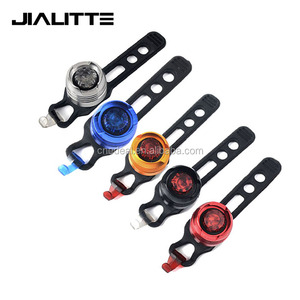 Jialitte B070 Tri Color Aluminum Bike Safety Lights CR2032 White Red Blue Led Bicycle Front Tail Light