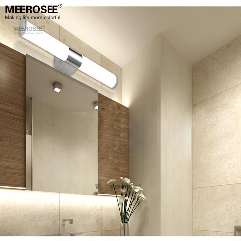 nueva acrlico moderna bao aseo wash maquillaje espejo de pared lmpara w luz llevada de with lamparas de bano