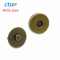 high quality bag accessories hidden strong brass for clothing metal snap button magnet button custom metal buttons