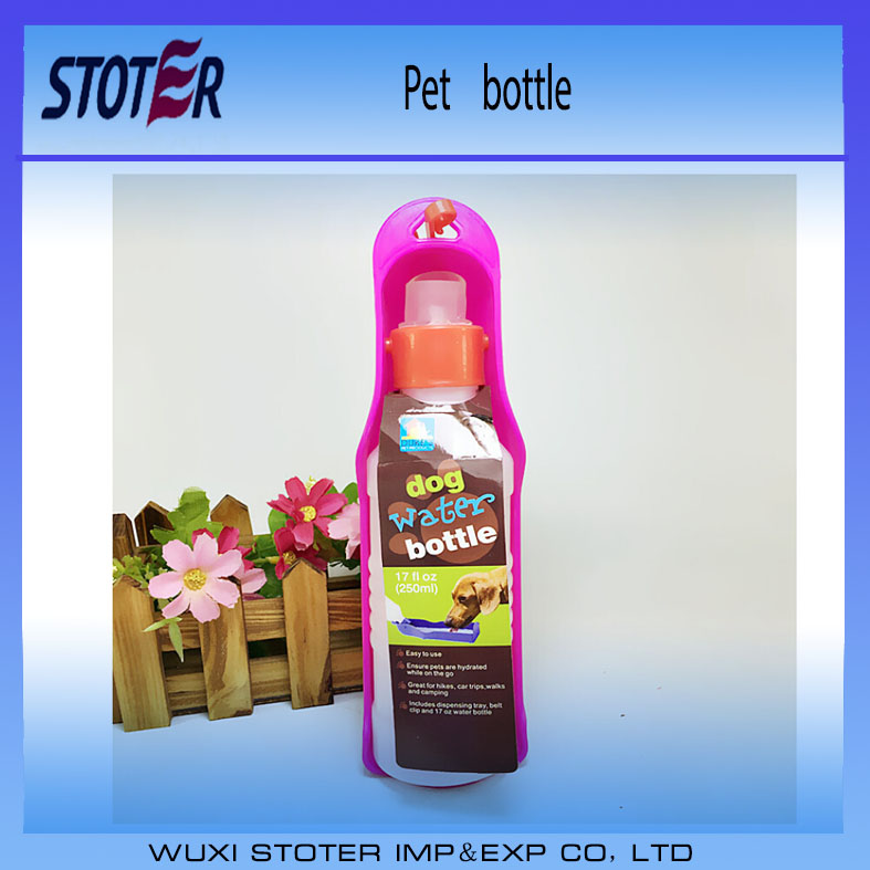 colourful pet drinking water bottles