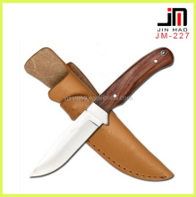 Fixed Blade Knife Blade 440 Mirror Finished Stainless Steel Blade Wood Handle