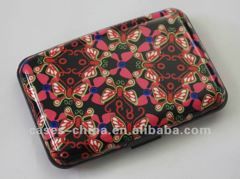Security and waterproof aluminum printed pattern card wallet