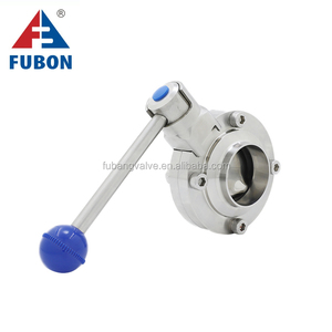 Wholesale High Quality Sanitary Wafer Type 1 inch double eccentric motorized butterfly valve
