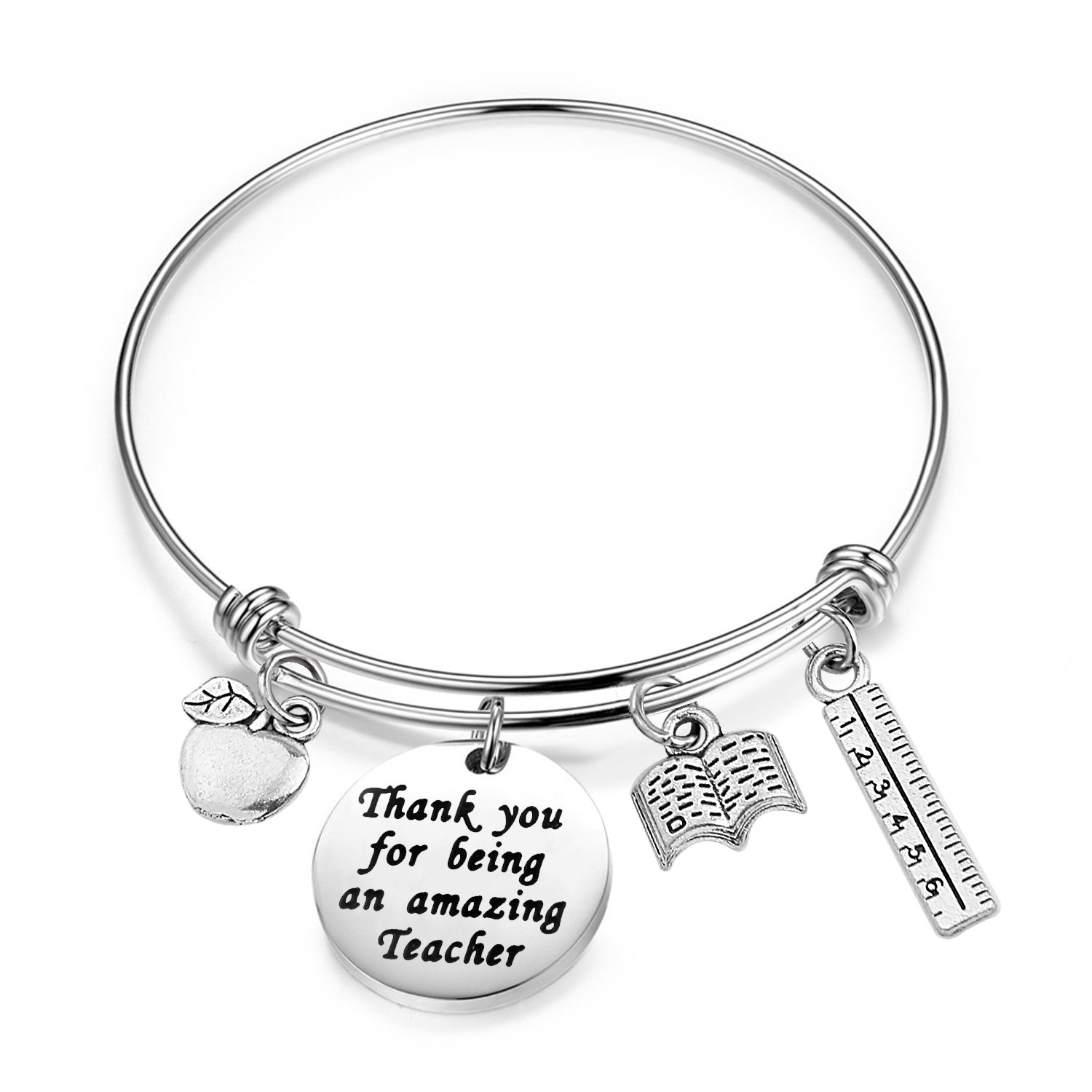 cheap teacher apple find teacher apple deals on line at alibaba 4 X 4 Memo Cube get quotations bobauna teacher bracelet with apple book ruler charms thank you appreciation gifts for teachers