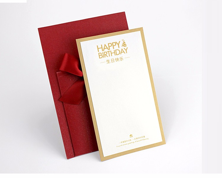 Wholesale Factory Direct Sales custom size color birthday greeting paper card