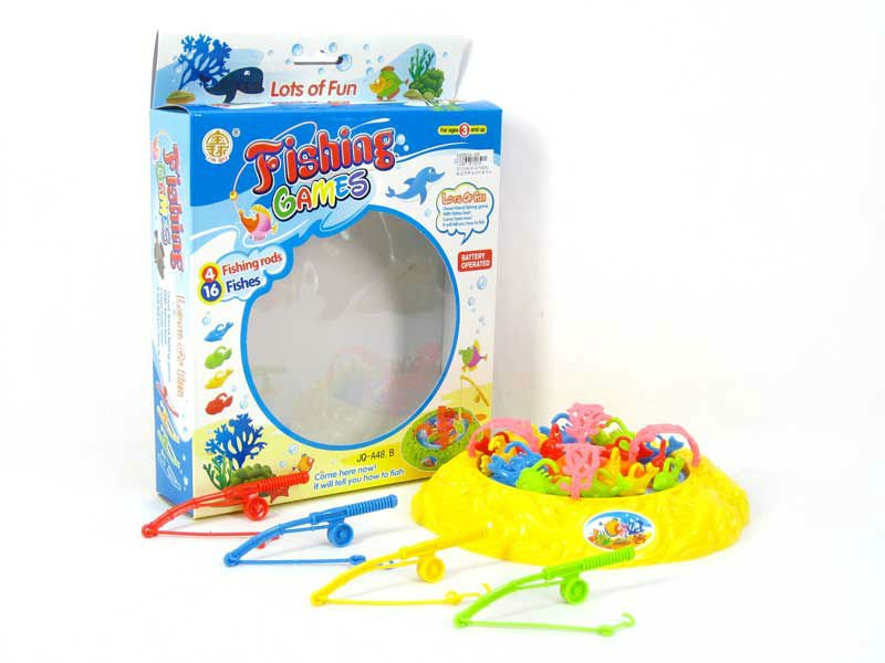 Educational B/O Fishing Game With Music with lots of fun