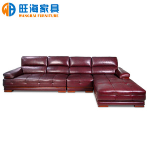 Leather sofa with Chaise sofa American style Senior sofa Monde Color 1605