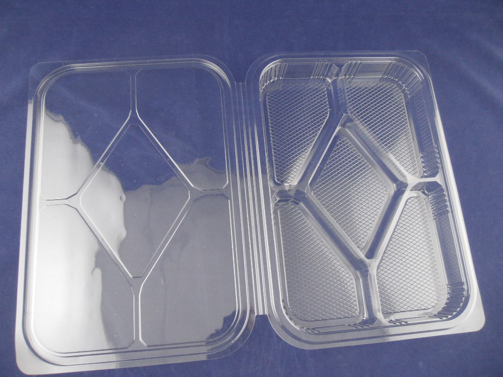 Disposable biscuit plastic tray
