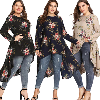 2024# In Stock Muslim Dress Modern Islamic Clothing Fashion Tops Dubai Tukery Women New Tunic Plus Size