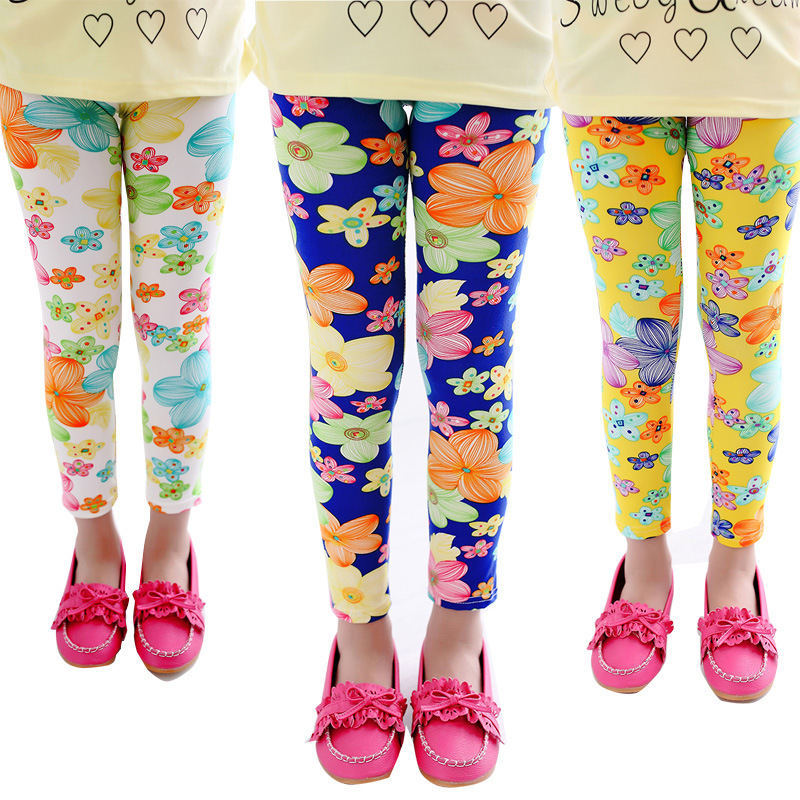 70d1e3d28dfc1 Wholesale Custom Children Cartoon Flower Printed Trousers Elastic Cotton Kids  Leggings For Girls - Buy Leggins For Girls,Children Leggings,Wholesale  Custom ...