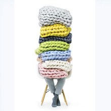 Factory Wholesale Super Chunky Merino Wool Yarn/ Chunky Thick Arm Knit Blanket