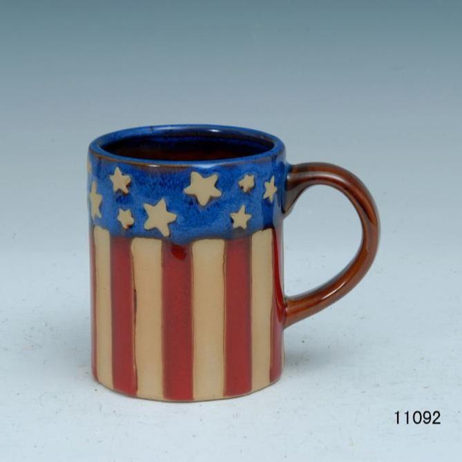 Patriotic American Flag Coffee Mug - Large American Flag Coffee Mug - 15 Oz