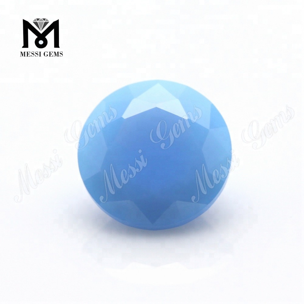 Opal Blue Color 8 0mm Nano Crystal Gemstones