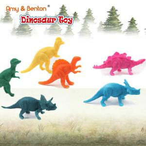 Low price ecofriendly mini plastic colorful dinosaur toys for kids