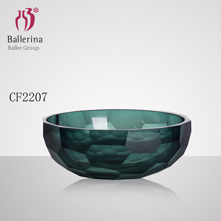 Crystal colorful glass bowl set high quality candy glass bowl manufacture in China with small MOQ