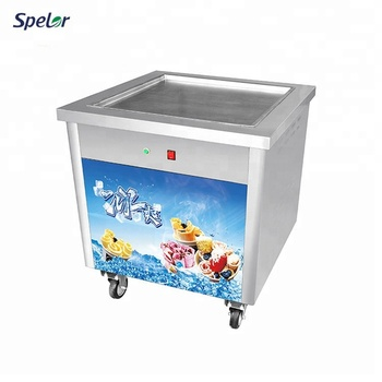 Completely-Sealed Ss Manual Fried/Roll Fried Ice Cream Machine