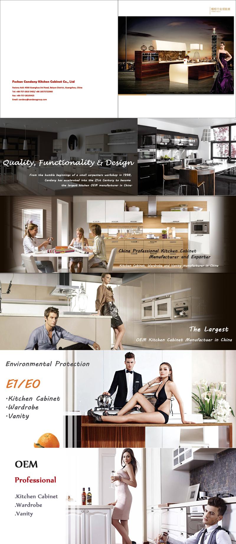 candany environmentally friendly pvc kitchen cabinet l shaped