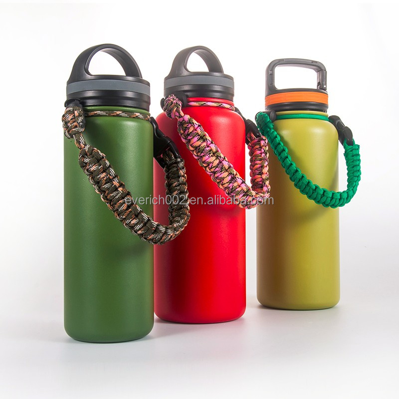 Custom Stainless Steel 18/8 Insulated Water Bottle with Handle