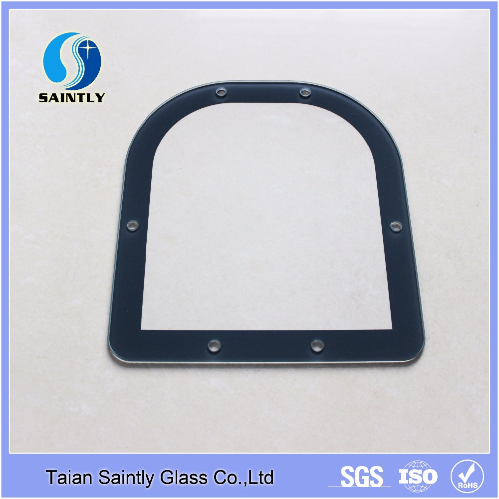 Round Rectangle Shape Float Thick Tempered Outdoor Light Covers Glass