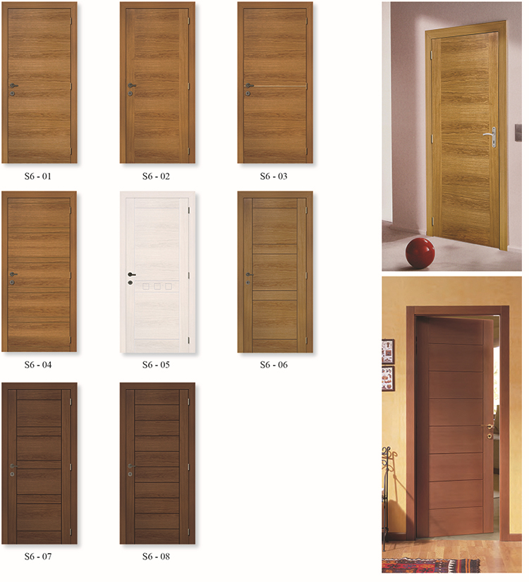 Natural Veneer Solid Wood Luxury Door Interior View Luxury Door