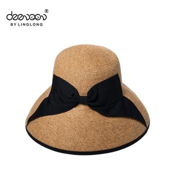 Summer Wide Brim Women Sun Hat Wholesale Lady Crochet Beach Straw ... 6b67e083565