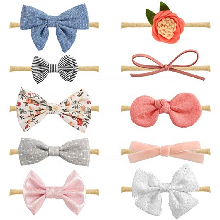 Baby Girl <strong>Headbands</strong> And Bows Newborn Infant Toddler Hair Accessories Baby Head Band Set
