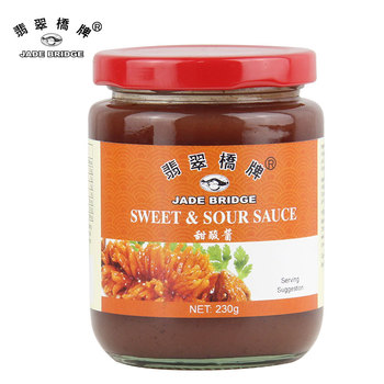 Chinese Condiment 230g jar packing Sweet Sour Sauce for dipping