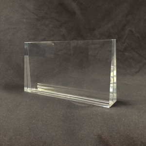 Custom Acrylic Crystal Paperweight Acrylic Plaques clear block display case