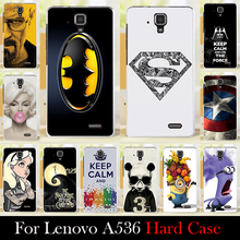 For  Lenovo A536 Mobile Phone Case Hard Back Cover DIY Color Paitn Cellphone Shell Skin Chirstmas Shipping Free