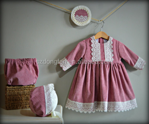 02de07c28 Lace Christmas Dresses Mother Daughter Matching Dress Baby Girl Frocks With Baby  Bloomers