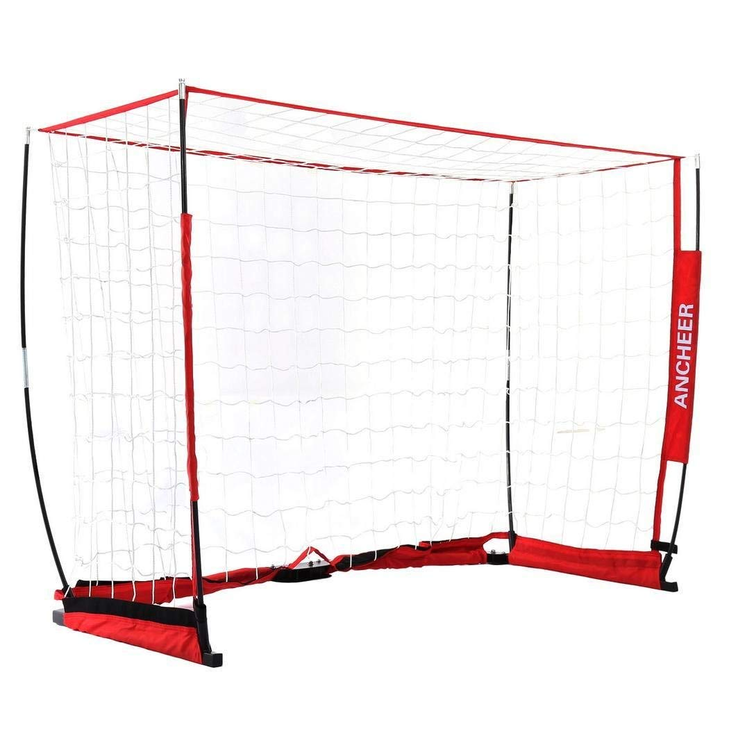 Foshin Portable Soccer Goal, Bow Style Practice Net, Folding Soccer Goal Set for Traning Backyard or Public Fileds, for Kids/Youth/Adults (US STOCK)