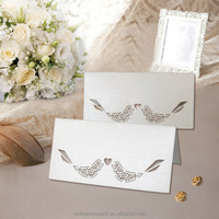 Eco-friendly unique paper Lovely bird wedding invitation table place card