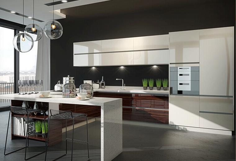 Gabinete De Cocina De Aluminio Modelo Diseño Integrado Para La ...