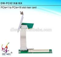 Internal pci express riser car pci-e x1 x16 pci e x16 riser card and CH382 chip riser card