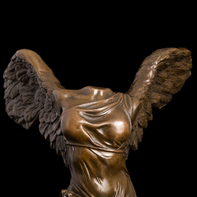 Sculpture bronze winged goddess of victory for sale