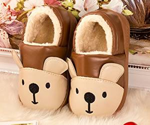 Cute Cartoon warm Kid Slippers Autumn and winter thick home warm cotton slippers /plush slippers /Anti-skid Home House Slippers Fashion Travel Kid gift Slippers Child Footwear/Slippers
