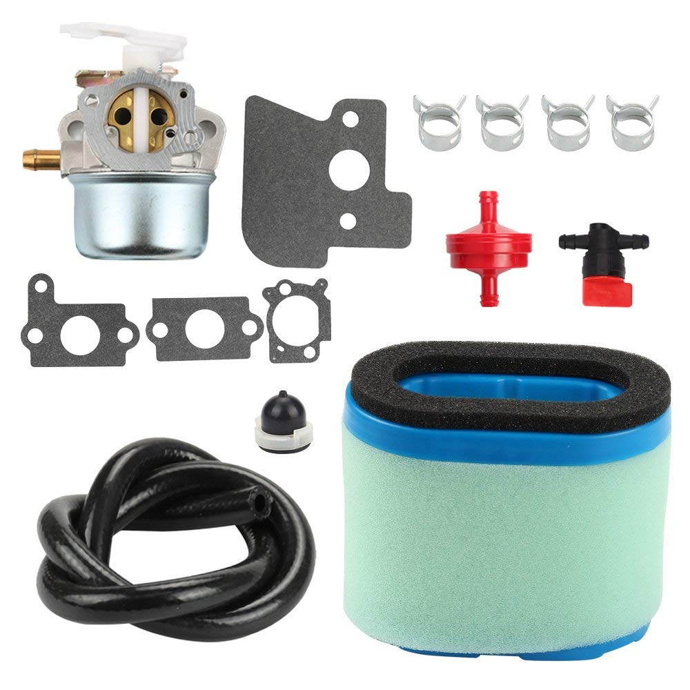 Harbot 694203 690152 Carburetor + 697029 273356S Air Filter Tune Up Kit for Briggs & Stratton 121602 121612 122612 128612 Engine
