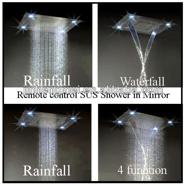 High quality hotel electronic rain shower waterfall