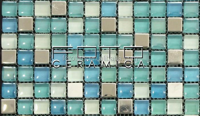 Famiglia di colore mosaico di vetro piastrelle per interni casa