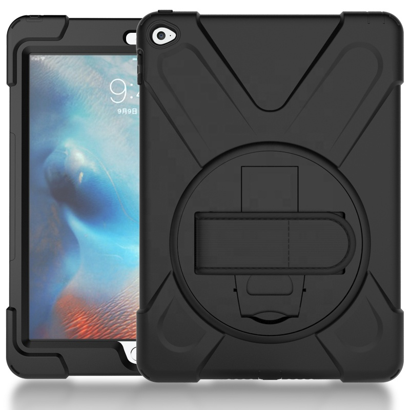 Antichoc robuste support de support en silicone dragonne POS housse de protection pour Apple iPad 6 Air 2 avec bandoulière