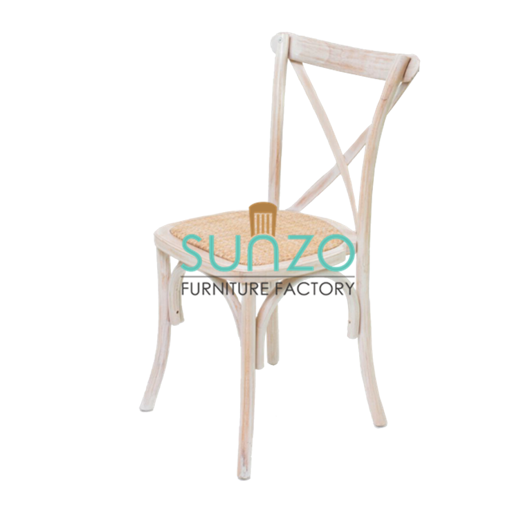 Wholesale limewash color wood chairs cross back x back chair