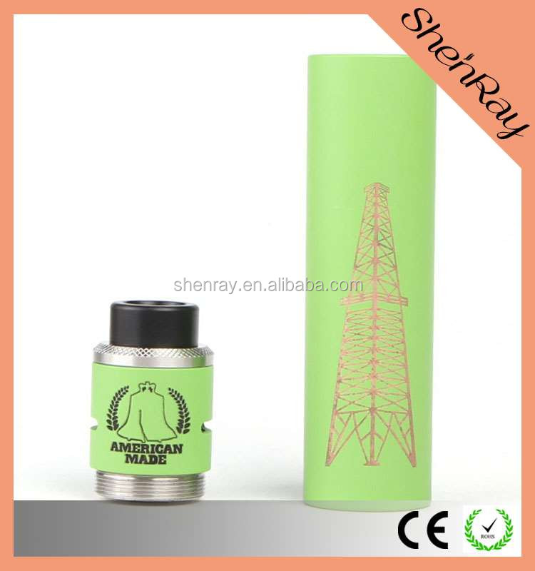 Hot Selling Copper 18650 Battery Rig V2 Mod Clone w/ RDA Kit / Pandora Box Mod / Timekeeper Mod for Factory Price Wholesa
