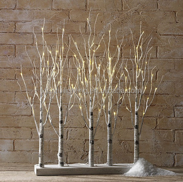 Artificial Outdoor Indoor Lighted Branch Birch Led