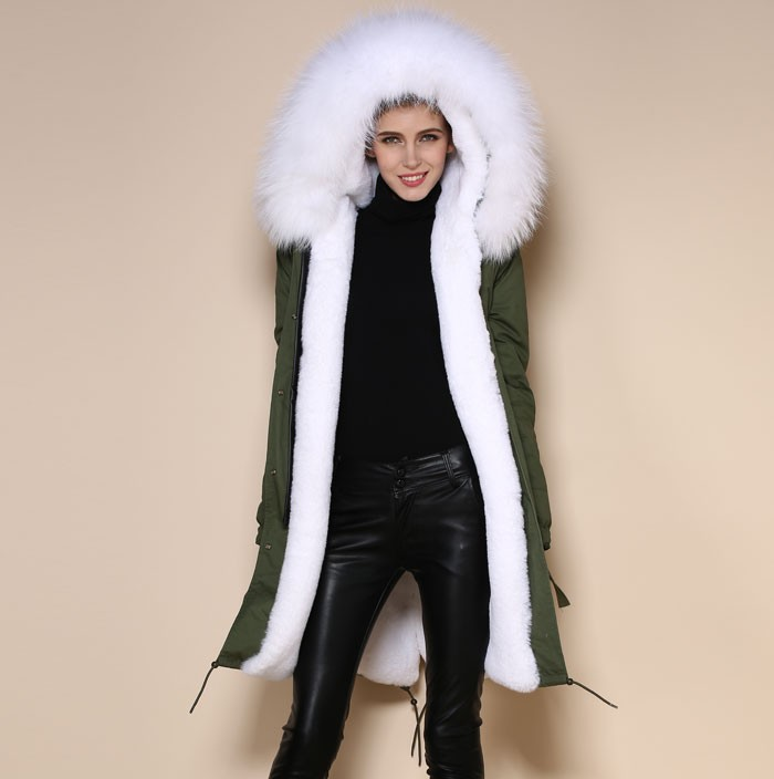 Wholeslae Korea New Style Faux Fur Long White Fur Coat For Winter ...