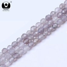 Orijinal 4mm faceted gri yuvarlak faceted <span class=keywords><strong>yeşim</strong></span> taş <span class=keywords><strong>fiyat</strong></span>